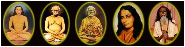 Rajahamsa Swami Nityananda Giri's lineage of Kriya masters